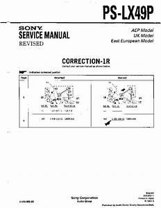 Sony Ps-lx49  Ps-lx49p Service Manual