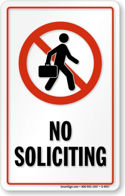 No Soliciting Window Decals, No Soliciting Signs, SKU: S 4917