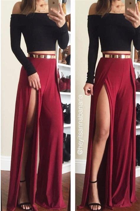 Conjuntos De Moda Pantalon De Vestir + Crop Top 2018 Damas  Bs 110,00 En Mercado Libre