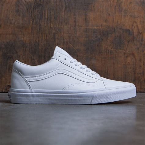 vans skool white classic tumble