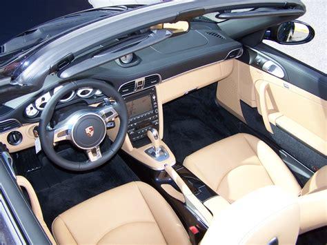 Porsche Black And Sand Beige Two Tone Interior