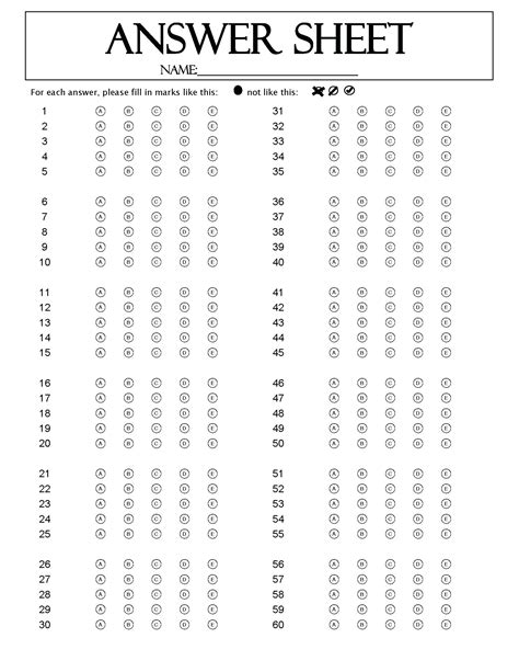 Template Answer Key Template Multiple Choice Main Test Answers Monster Login Answer Key