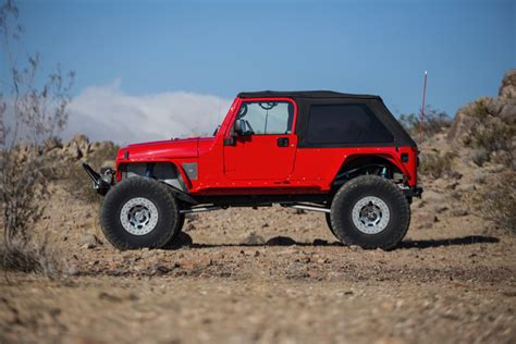 viper red jeep lj build genright  road