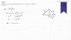 Höhe Gleichschenkliges Dreieck Berechnen : dreieck fl che berechnen youtube ~ Themetempest.com Abrechnung