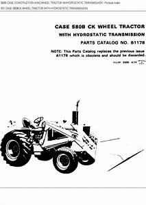 Case 580b Ck Wheel Tractor Parts Catalog Manual