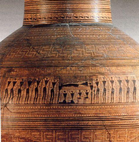 vasi antica grecia anfora dipylon particolare nell immagine si