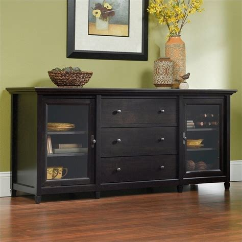 Tv Credenza Black by Sauder Edge Water 71 Quot Credenza Estate Black Tv Stand Ebay