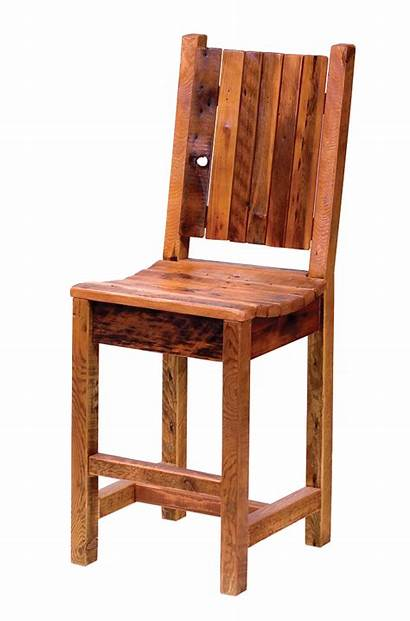 Barstool Teton Furniture Wood Rustic Barn Reclaimed