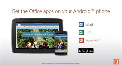 ms office for android microsoft office for android ปล อยดาวน โหลดแล ว