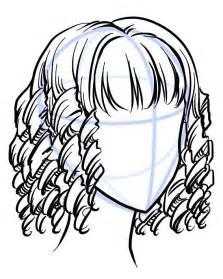 How to Draw Curly Manga Hair
