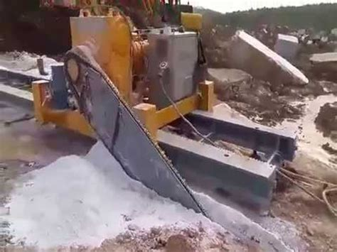 quarry chain saw cutting machine and quarrying