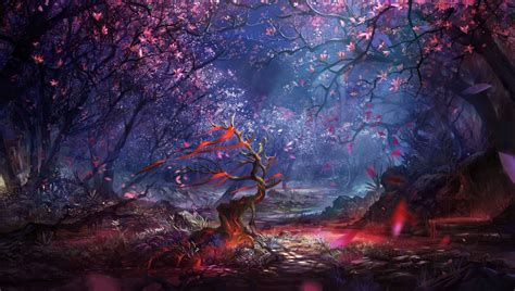fantasy landscape tree fantasy wallpaper amazing