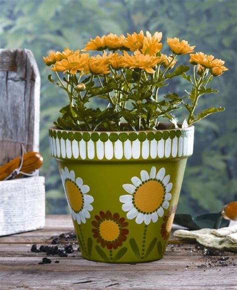 pot designs ideas paint a flower pot 50 cool ideas one decor