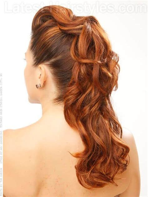 hair prom styles curly hairstyles back view www pixshark 3343