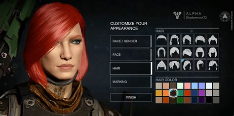 destiny character creation options  pretty  limited