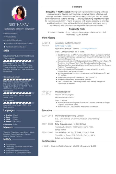 system engineer resume sles visualcv resume sles