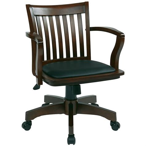 used wood bankers chair deluxe wood banker s chair with vinyl padded seat in