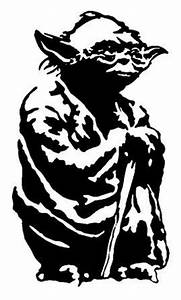 Yoda Black And White Outline | Silhouette Cameo Ideas ...