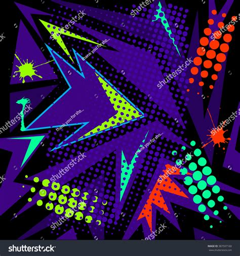 abstract chaotic pattern urban geometric elements stock