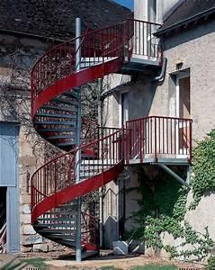 Hauteur Marche Escalier Extérieur : photo ih16 spir 39 d co larm escalier h lico dal d 39 ext rieur en acier galvanis de style ~ Farleysfitness.com Idées de Décoration