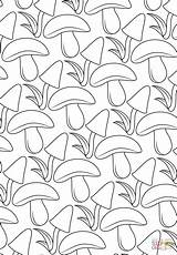 Coloring Pattern Mushroom Pages Printable Paper Drawing Puzzle Supercoloring Categories sketch template