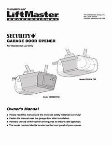 Liftmaster Chamberlain Garage Door Opener Owner S Manual