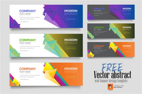 vector abstract web banner design template photoshop action