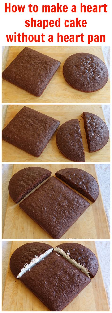 how to make caks how to make a heart shaped cake without a heart pan