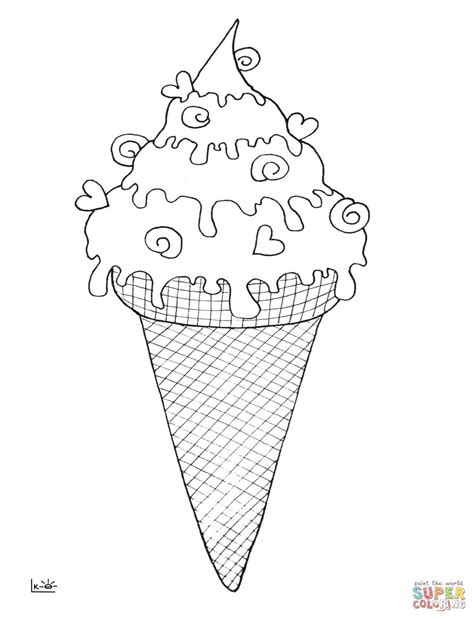 ice cream cone coloring page  getcoloringscom