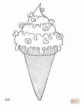 Ice Cone Cream Coloring Pages Printable Snow Drawing Getdrawings Desserts Lollipops Getcolorings Template Dot Categories sketch template