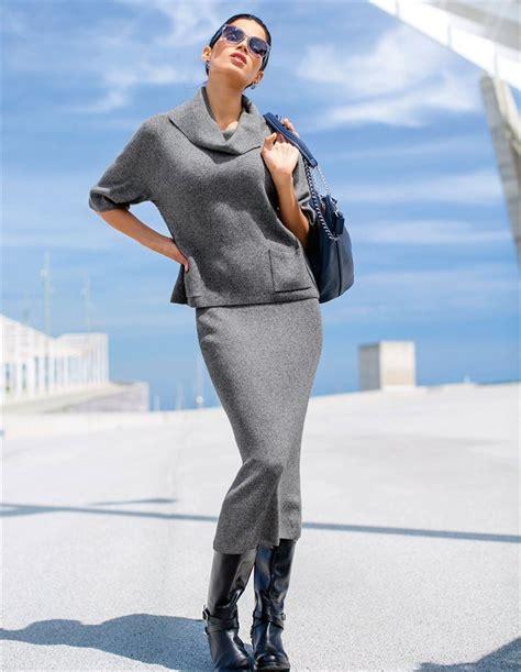 länger arbeiten als 65 ein schmaler langer strickrock f 252 r feminine looks gern