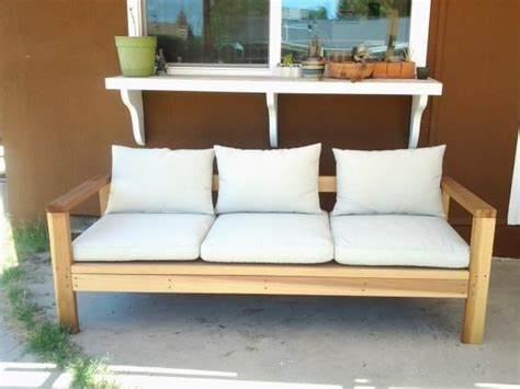 wood  outdoor sofa couch  plans diy simple easy
