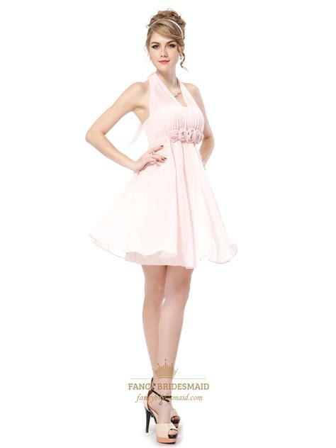chiffon bridesmaid dresses light pink halter bridesmaid dresses petal pink junior chiffon bridesmaid dresses fancy