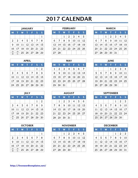 photo calendar template 2017 2017 calendar templates