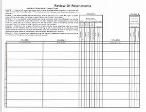 aa fourth step worksheet free worksheets library With fourth step template