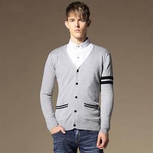 2015 New Winter Men Fashion Long Sleeved Cardigan Jacket ...