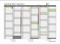 Imprimer calendrier 2017 gratuitement PDF, XLS et JPG