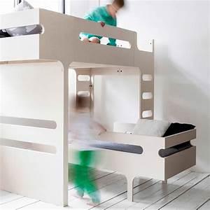 Echelle Lit Mezzanine : lit mezzanine double chelle funk bed naturel rafa kids design ~ Teatrodelosmanantiales.com Idées de Décoration