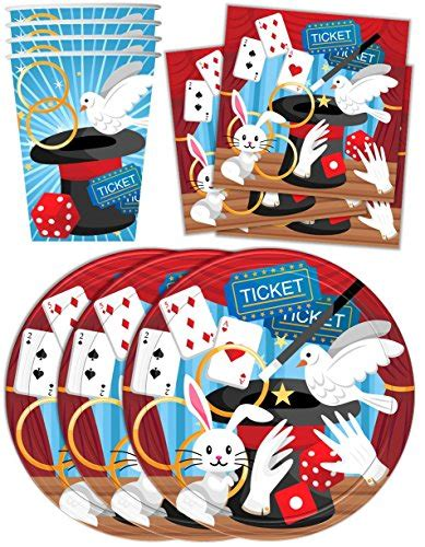 other toys magic show birthday supplies set plates napkins cups tableware kit for 16 was