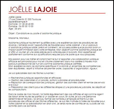 exemple lettre de motivation assistante juridique livecareer