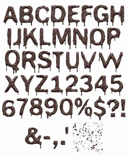Font 3d Chocolate Fonts Typography Alphabet Enjoy