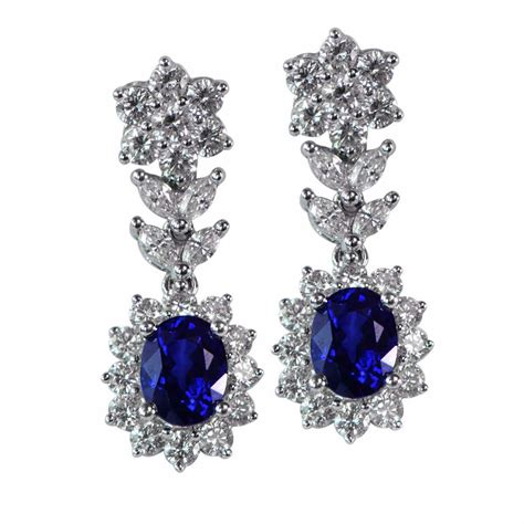 vintage style and sapphire earrings total 2 72