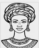 African Drawings Portrait Instagram Woman sketch template