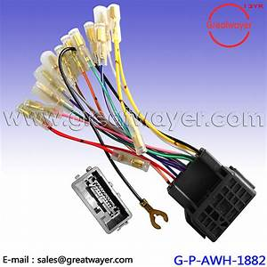 China Mitsubshi Cd Player 24 Pin Car Stereo Wiring Harness
