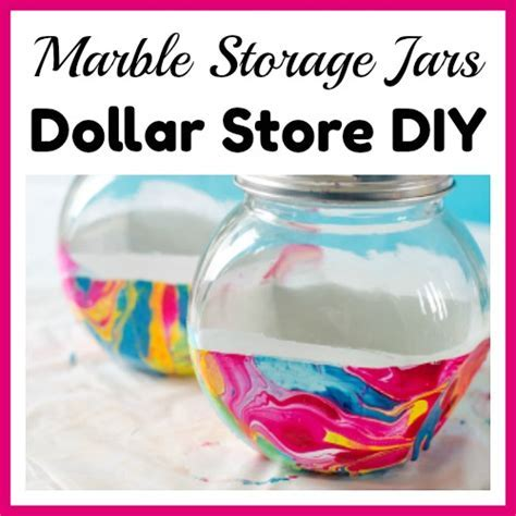 Marble Storage Jars  Easy Dollar Store DIY Project
