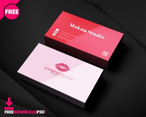 makeup artist business card template freedownloadpsdcom