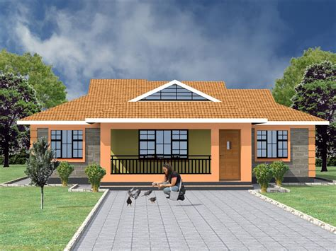 simple  bedroom house plans  kenya hpd consult