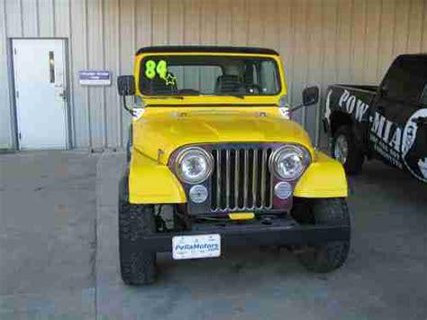 cj jeep yellow sell used 1984 yellow jeep cj in pella iowa united