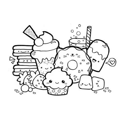 Kleurplaat Kawaii Food kawaii food kleurplaten pertaining to tekeningen food