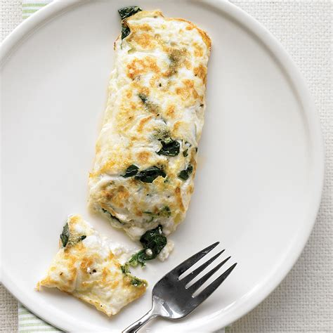 egg white omelet  spinach  cottage cheese